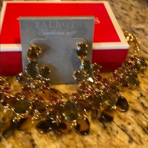Talbots NWT necklace and matching earrings